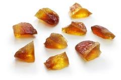 Japoński agar galarety cukierki, złocista herbata Fotografia Stock