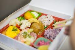 Japoński bento lunchu pudełko zdjęcie stock