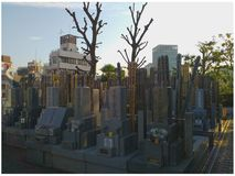 Japoński cmentarz obraz stock