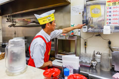 Japoński curry'ego szef kuchni w Osaka Zdjęcie Royalty Free