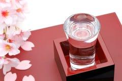 Japoński drewnianego pudełka masu z sztuka dla sztuki fotografia stock