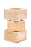 Japoński drewniany pudełko Zdjęcia Royalty Free
