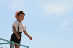 Japoński dziecina dziecko na dżungli gym Fotografia Stock