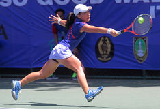 Japoński gracz w tenisa Hanatami Obrazy Stock