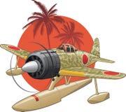 japoński hydroplan ww2 royalty ilustracja