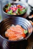 Japoński jedzenie, łosoś/ Obraz Stock