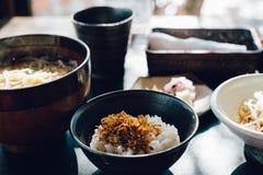 Japoński jedzenie, ryż i kluski, Soba Zdjęcia Royalty Free