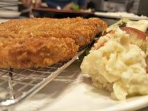 Japoński jedzenie & x22; tonkatsu& x22; na naczyniu dla posiłku fotografia stock