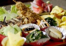 Japoński jedzenie ustawiający odizolowywającym Zdjęcie Stock
