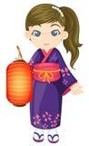 japoński kimono ilustracja wektor