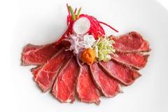Japoński kuchni wołowiny tataki Zdjęcie Royalty Free