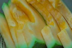Japoński melonowy obruszenie owoc tło Obraz Royalty Free