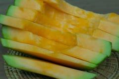 Japoński melonowy obruszenie owoc tło Fotografia Royalty Free