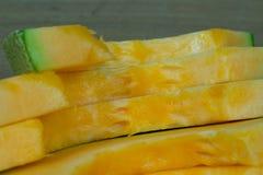 Japoński melonowy obruszenie owoc tło Fotografia Stock