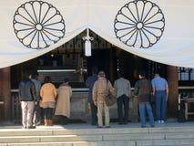 Japoński modlenie przy świątynią yasukuni Fotografia Stock