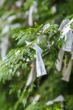 Japoński modlitwa papier zdjęcie stock