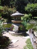japoński ogród latarnia Obrazy Royalty Free