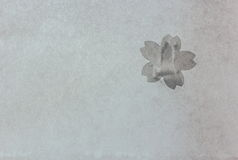Japoński papier zakrywający z czereśniowego okwitnięcia łatami Fotografia Royalty Free
