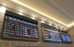 Japoński pociska pociąg Shinkansen Fotografia Royalty Free
