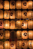 Japoński postlamp ściany tła festiwal obraz royalty free
