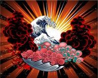 japoński projekta tatuaż Zdjęcie Stock