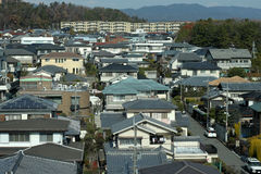 japoński przedmieścia Zdjęcia Royalty Free