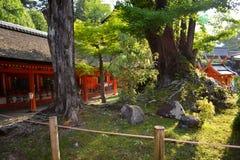 Japoński Sintoizm świątyni ogród obrazy royalty free
