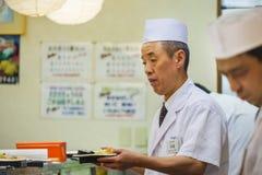 Japoński suszi szef kuchni Obrazy Royalty Free