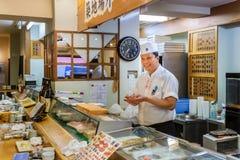Japoński suszi szef kuchni Obrazy Stock