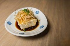 Japoński tofu, Japoński miękki zimny tofu Obrazy Royalty Free