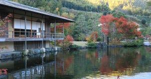 Japoński tradycyjny ogród przy parkiem w jesieni w Shizuoka Japonia zdjęcie wideo