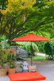 Japoński wiatrowych kurantów dzwonów drewniany bambusowy ogród zdjęcia royalty free