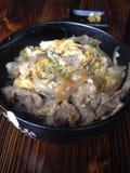 Japoński wołowina puchar Rice Zdjęcia Stock