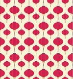 Japońskich lampionów wzór ilustracja wektor