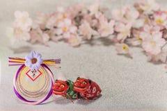 Japońskie nowy rok karty z handwriting ideogramów Geishun whi fotografia royalty free