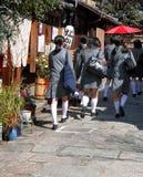japońskie uczennice zdjęcie royalty free