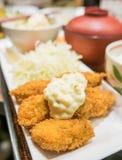 Japońskiego jedzenia głęboka smażąca ostryga Obraz Stock