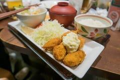 Japońskiego jedzenia głęboka smażąca ostryga Zdjęcie Stock