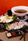 Japońskiego stylu Steamboat Fotografia Stock