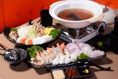 Japońskiego stylu Steamboat Zdjęcia Stock