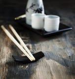 Japońskiego stylu stołu sztuka dla sztuki i set Obraz Royalty Free