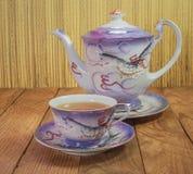 Japońskiej porcelany herbaciana filiżanka obraz stock