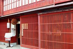 Japońskiej sztuka dla sztuki wina browaru destylarni historyczny okręg, Kanazawa, Japonia Obraz Royalty Free