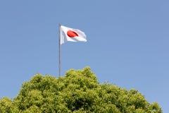 Japończyk flaga Zdjęcie Royalty Free