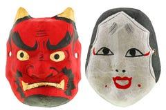 japończyk maskuje teatr tradycyjnego Obraz Royalty Free