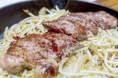 Japończyk piec na grillu wieprzowina Obraz Royalty Free