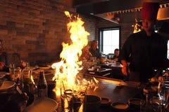 Japończyka Hibachi szef kuchni Obrazy Royalty Free