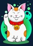 Japończyka Maneki Neko bielu kot fotografia royalty free
