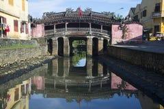 Japończyka most na pogodnym ranku hoi Vietnam Fotografia Stock