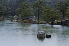 Japończyka ogród w deszczu Zdjęcia Stock